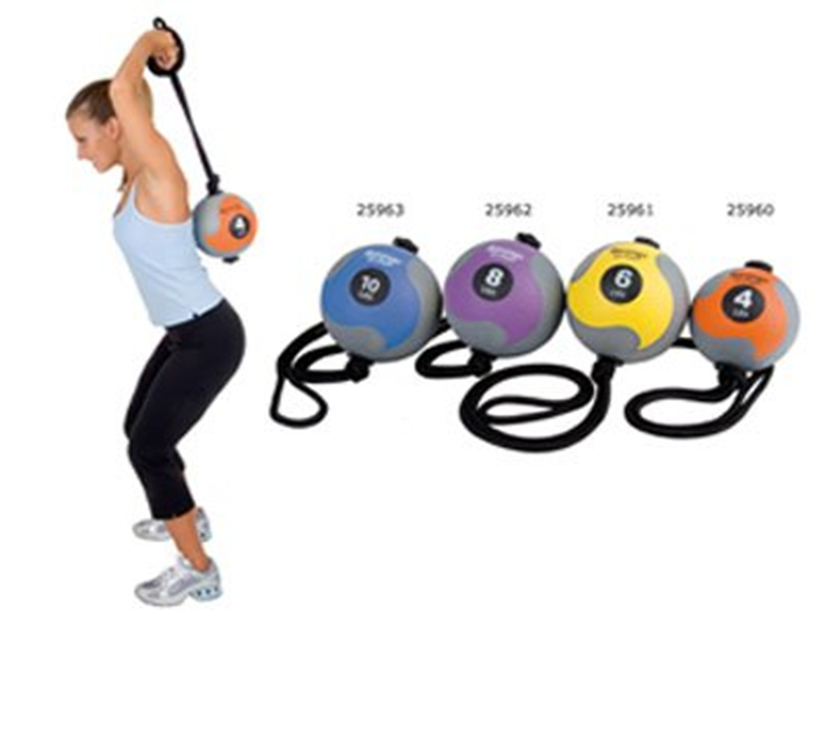 MB 5 MEDICINE BALL WITH ROPE